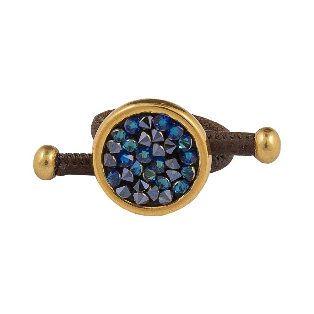 APOXYLO - Γυναικείο δαχτυλίδι BLUE BLACK APOXYLO γυναικεία αξεσουάρ κοσμήματα δαχτυλίδια