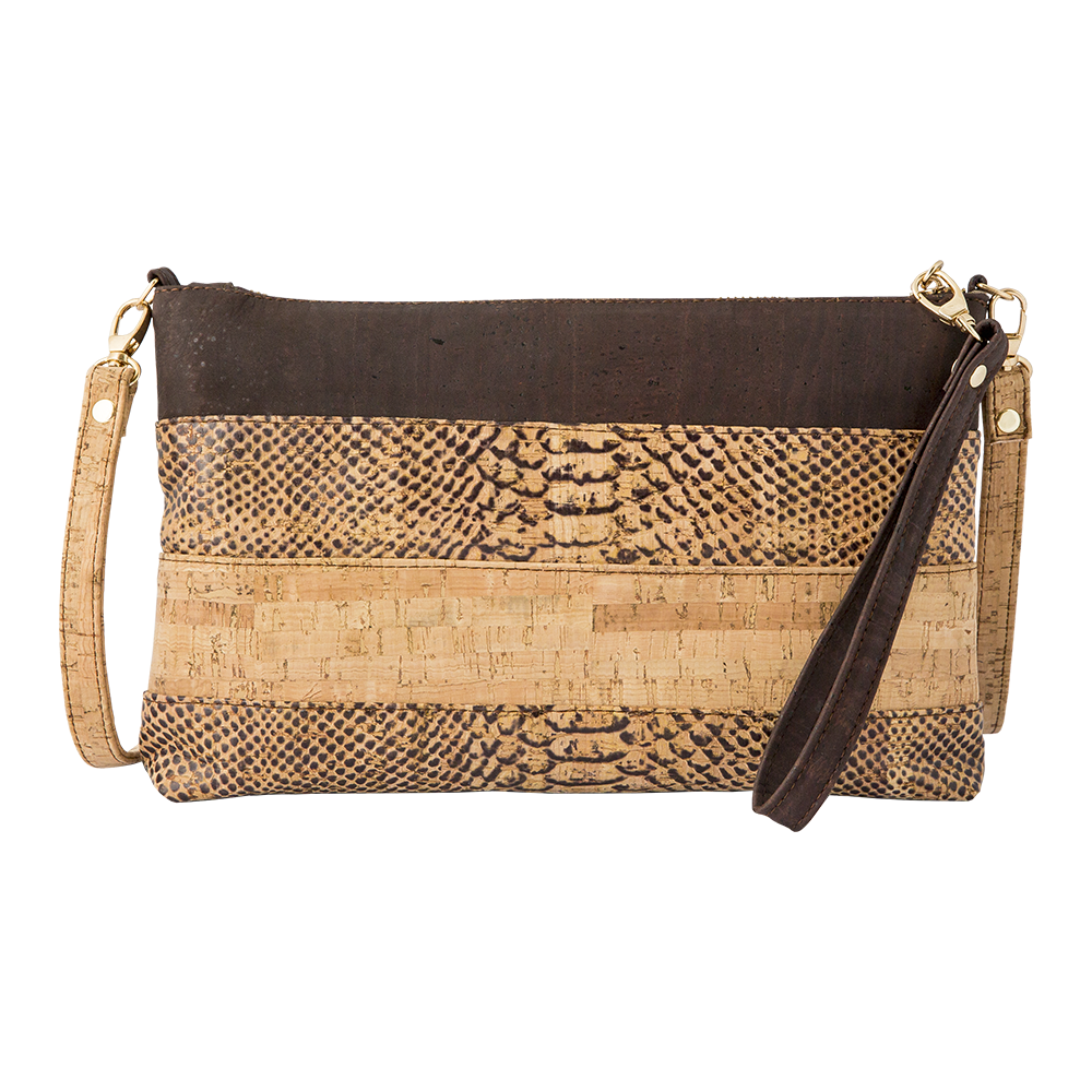 APOXYLO - Γυναικεία χιαστί τσάντα franka snake APOXYLO καφέ γυναικεία αξεσουάρ τσάντες σακίδια χιαστή   cross body