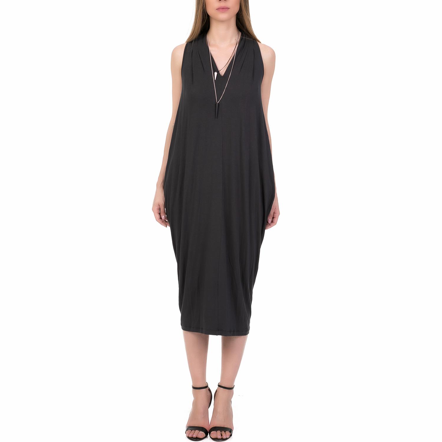 2d8c64bac5b3  ALE - Γυναικείο μίντι φόρεμα  ALE ανθρακί.