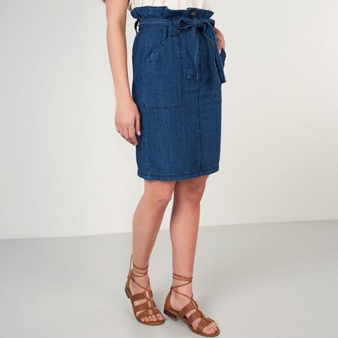 2eea7d6cf5a1 Γυναικεία midi τζιν φούστα FUNKY BUDDHA μπλε (1742879.0-j200) | Factory  Outlet