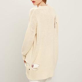 783bd1fb6044 FUNKY BUDDHA. Γυναικείο oversized πουλόβερ ...