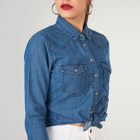 Γυναικείο τζιν πουκάμισο FUNKY BUDDHA μπλε σκούρο (1742890.0-1711 ... 9673f51978f