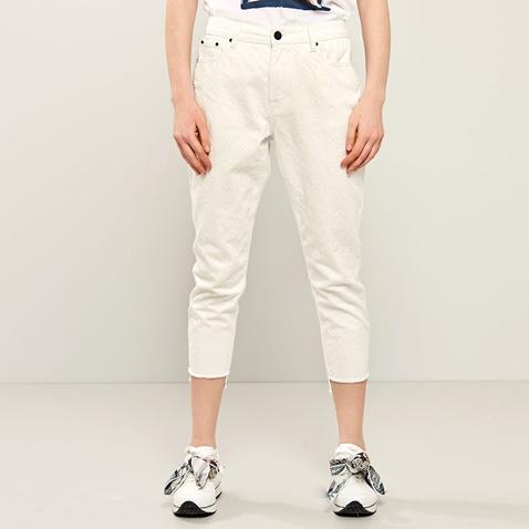 97c7008e865 Γυναικείο τζιν παντελόνι με κέντημα FUNKY BUDDHA λευκό (1742899.0-9100) |  Factory Outlet