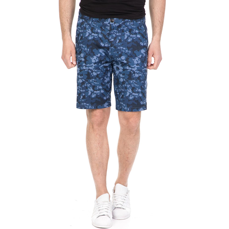 FUNKY BUDDHA - Ανδρική βερμούδα FUNKY BUDDHA μπλε ανδρικά ρούχα σορτς βερμούδες casual jean