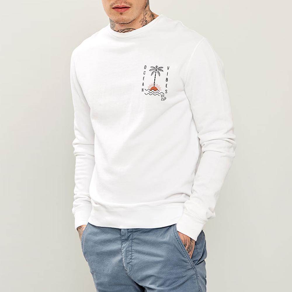 b68e653e9042 FUNKY BUDDHA - Ανδρική φούτερ μπλούζα με τύπωμα FUNKY BUDDHA λευκή