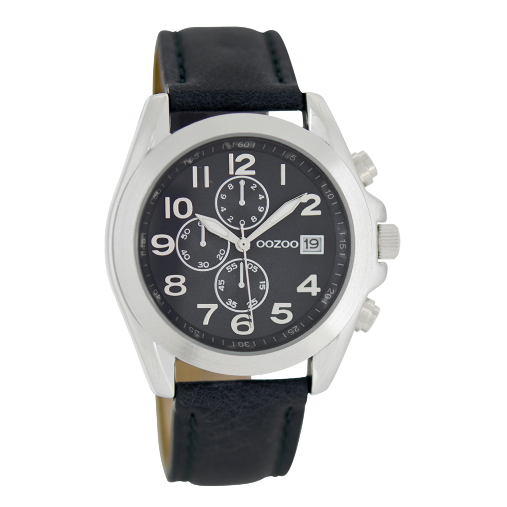 ab72d2ca2e Γυαλιά Ηλίου · OOZOO - Γυναικείο δερμάτινο ρολόι OOZOO TIMEPIECES μαύρο
