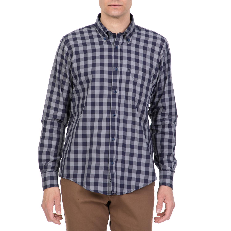 9a2151016d12 DORS - Ανδρικό πουκάμισο DORS γκρι-μπλε