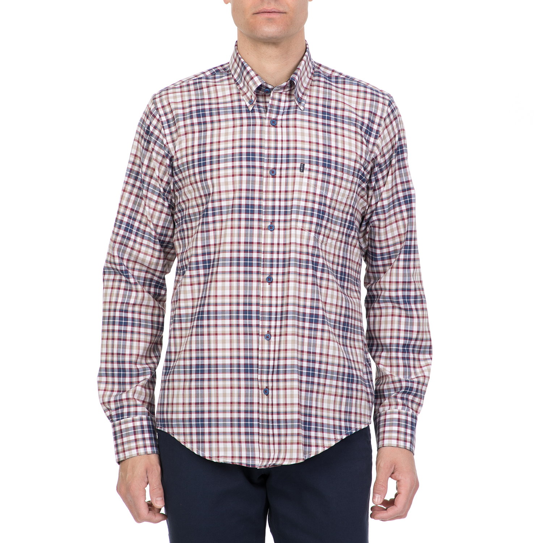 27393c61bfee Factoryoutlet DORS - Ανδρικό πουκάμισο DORS μπεζ-μπλε