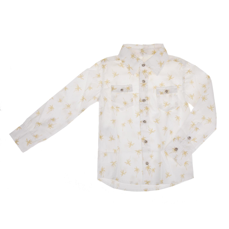 Yellowsub - Παιδικό μακρυμάνικο πουκάμισο Yellowsub λευκό με print παιδικά boys ρούχα πουκάμισα