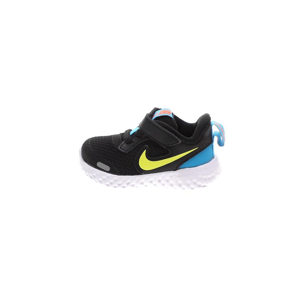 NIKE – Βρεφικά παπούτσια NIKE REVOLUTION 5 (TDV) μαύρα-κίτρινα