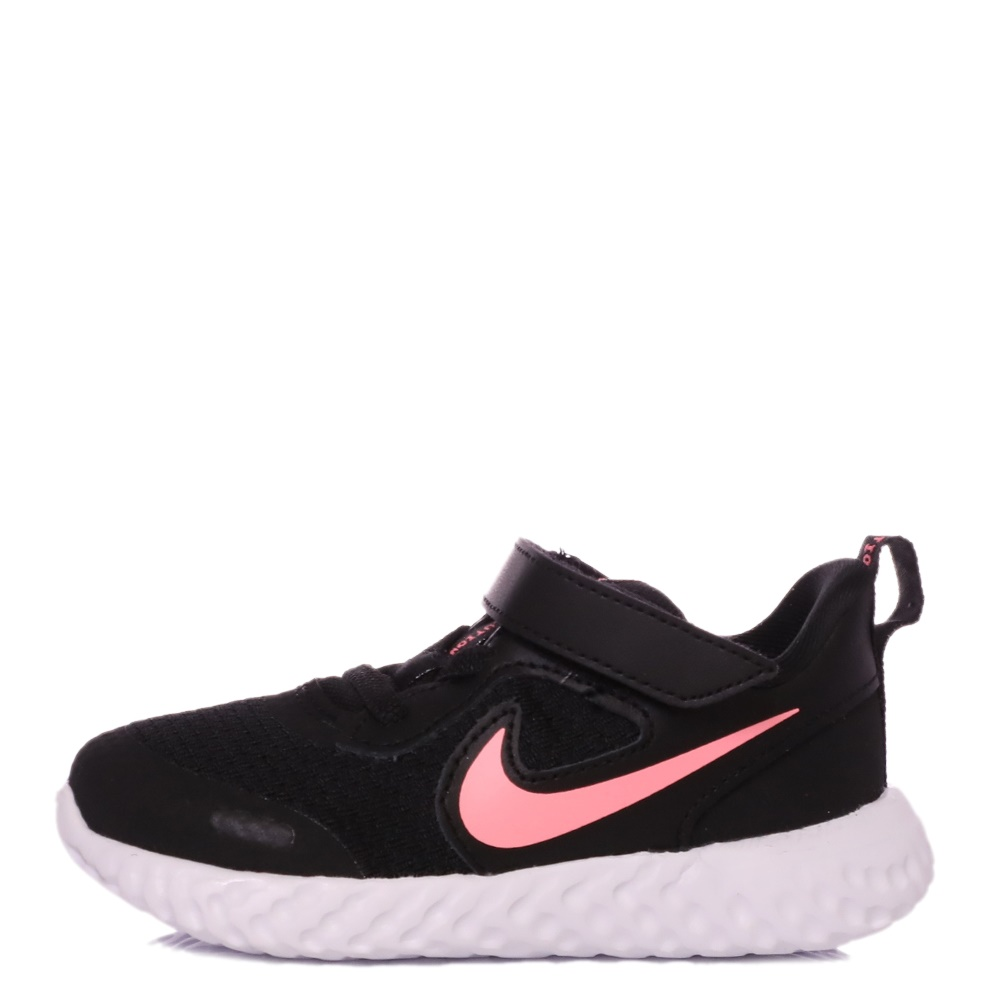 NIKE – Βρεφικά παπούτσια NIKE REVOLUTION 5 (TDV) μαύρα