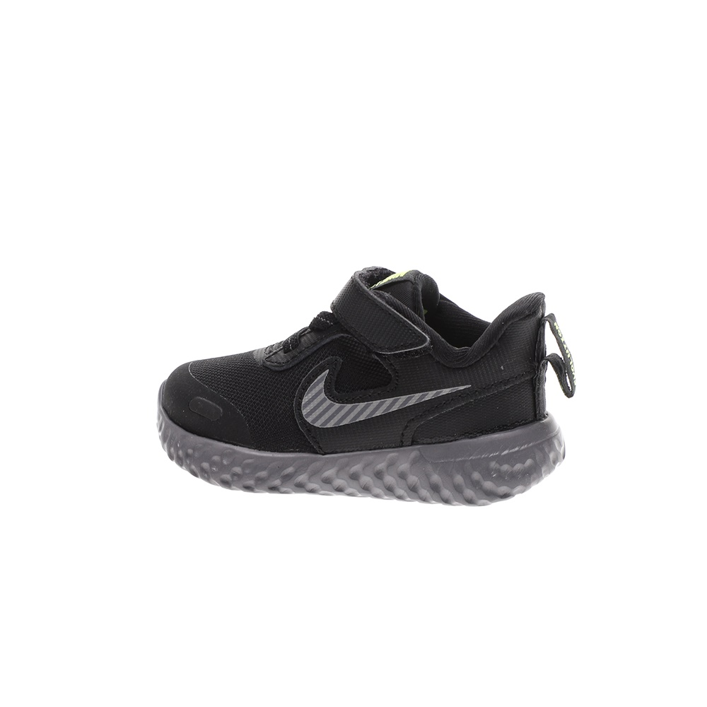 NIKE – Βρεφικά αθλητικά παπούτσια NIKE REVOLUTION 5 HZ (TDV) μαύρα