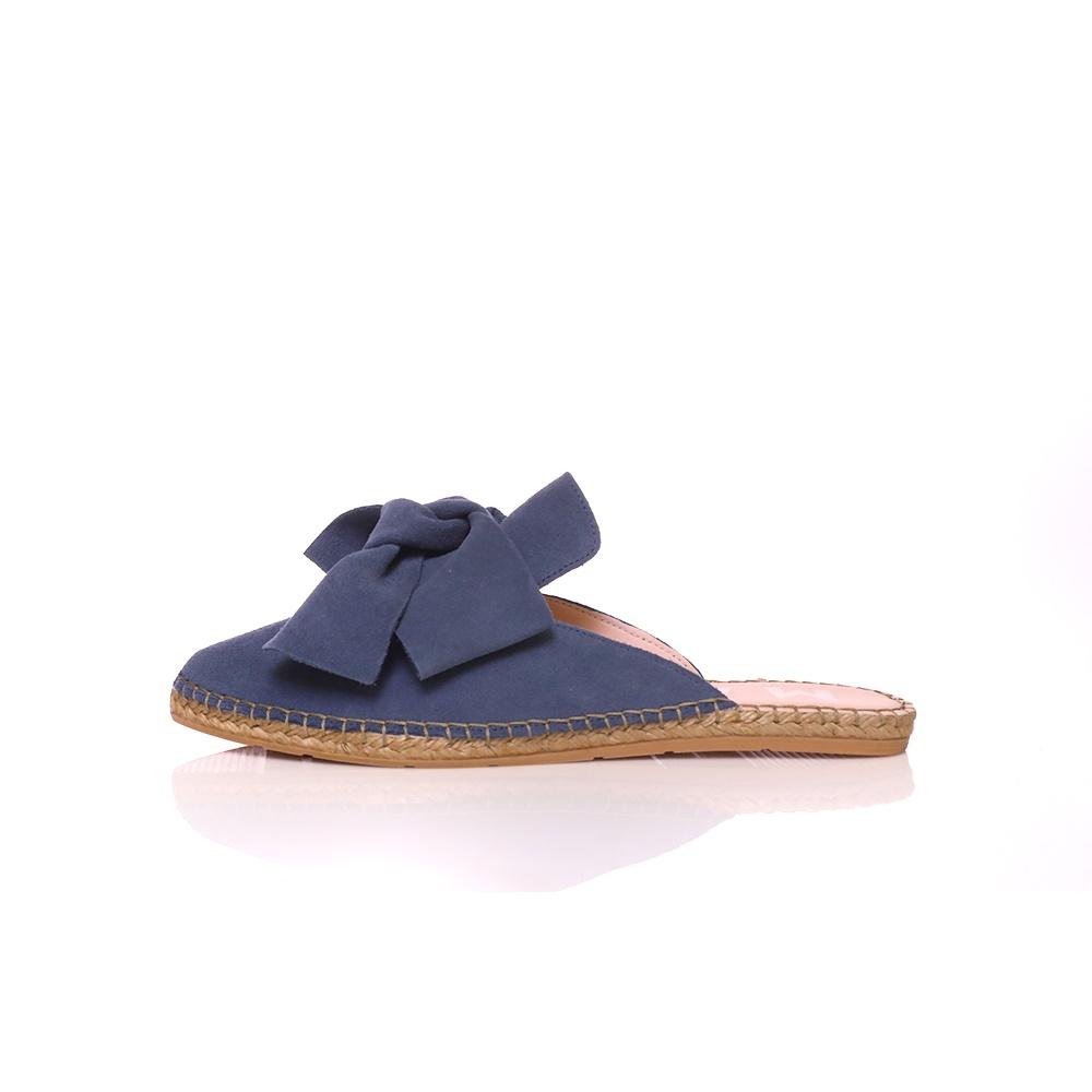 MANEBI – Γυναικεία φλατ mules MANEBI HAMPTONS μπλε