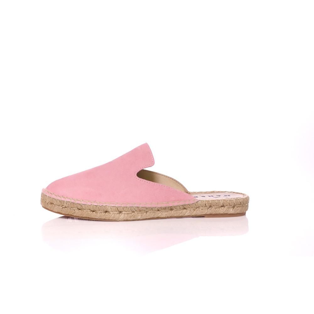 MANEBI – Γυναικεία φλατ mules HAMPTONS ροζ