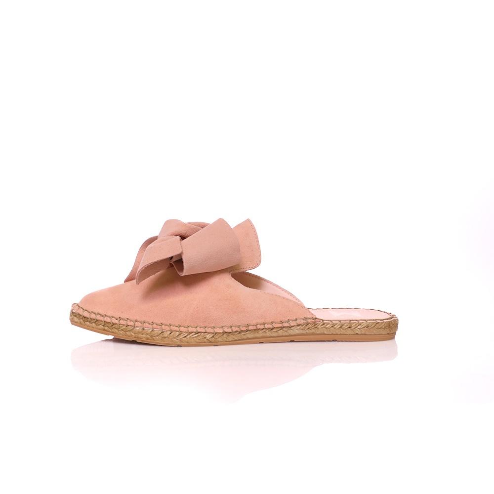 MANEBI – Γυναικεία φλατ mules MANEBI HAMPTONS ροζ
