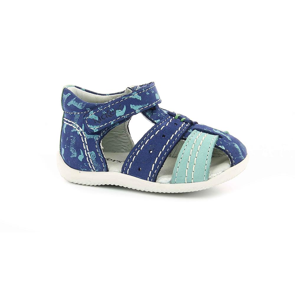 KICKERS - Βρεφικά πέδιλα BIGBAZAR KICKERS μπλε-πράσινα παιδικά baby παπούτσια πέδιλα σανδάλια