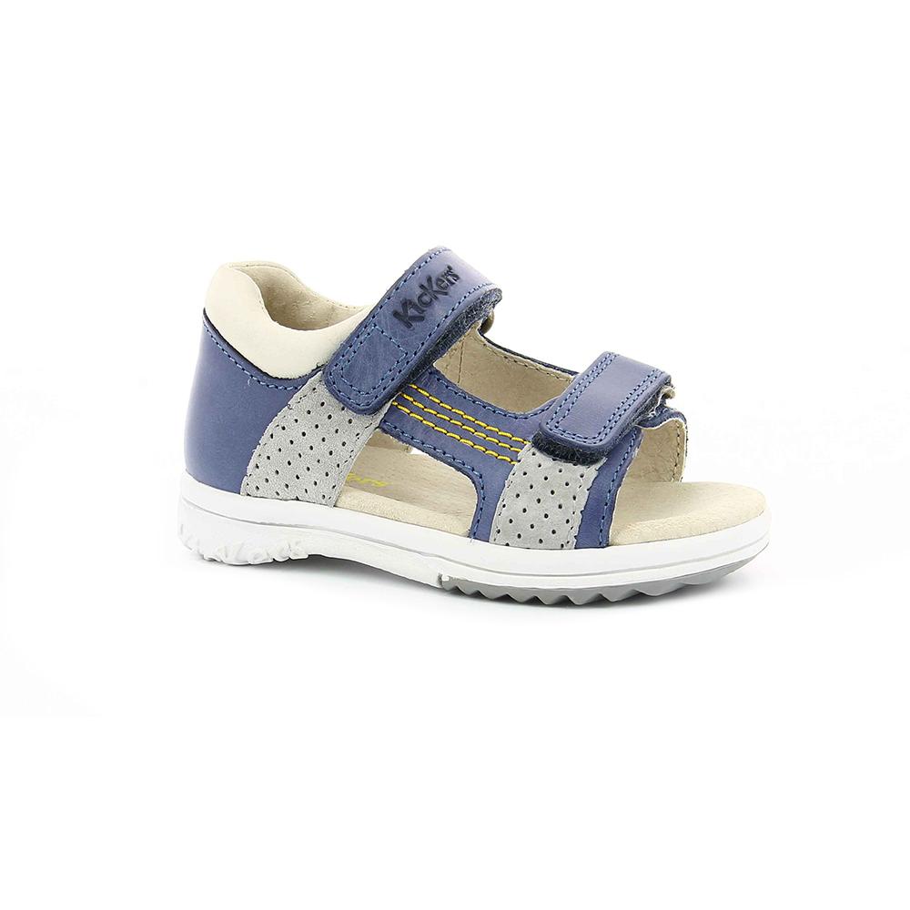KICKERS - Βρεφικά πέδιλα PLAZABI KICKERS μπλε παιδικά baby παπούτσια πέδιλα σανδάλια