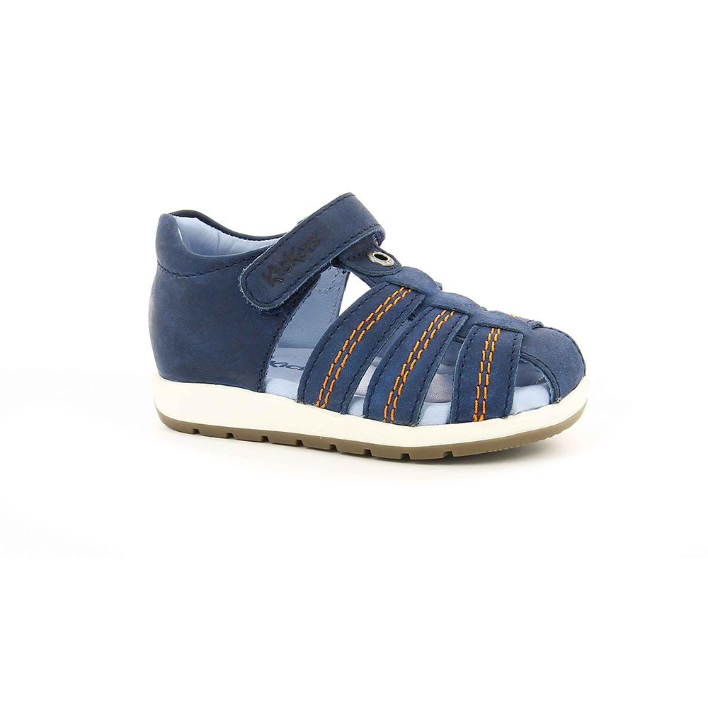 KICKERS - Αγορίστικα πέδιλα SOLAZ KICKERS μπλε παιδικά boys παπούτσια πέδιλα σανδάλια