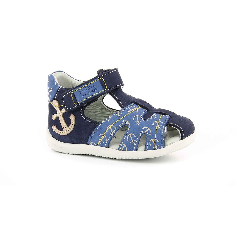 KICKERS - Βρεφικά πέδιλα BALNEAIRE KICKERS μπλε παιδικά baby παπούτσια πέδιλα σανδάλια