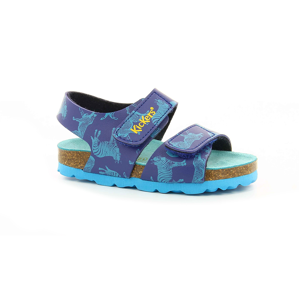 KICKERS - Κοριτσίστικα πέδιλα SUMMERKRO KICKERS μπλε παιδικά girls παπούτσια πέδιλα σανδάλια