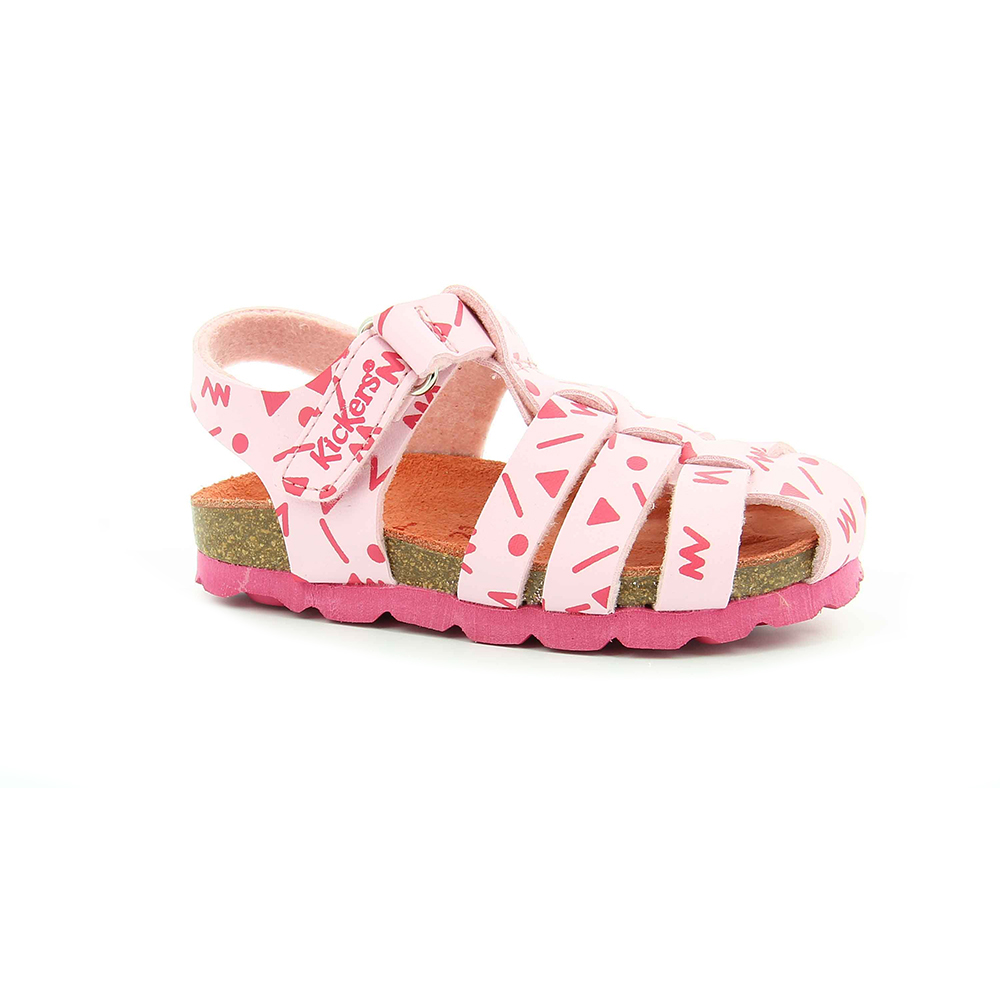 89a2e5ae3a Factory Outlet KICKERS – Βρεφικά πέδιλα SUMMERTAN KICKERS λευκά-ροζ