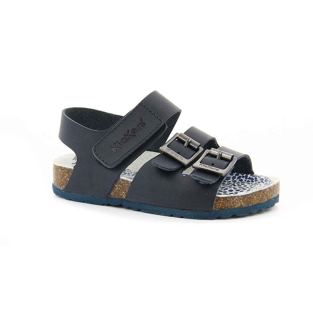 KICKERS - Αγορίστικα πέδιλα MAGINATION KICKERS μπλε παιδικά boys παπούτσια πέδιλα σανδάλια