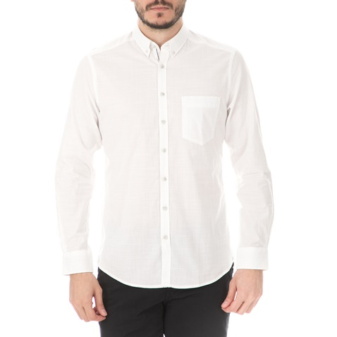ec384186c456 Ανδρικό μακρυμάνικο πουκάμισο HAMPTONS SOLID λευκό (1746389.0-0091 ...