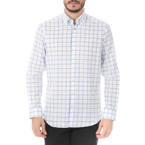 c5c01a7619b3 Ανδρικό μακρυμάνικο πουκάμισο HAMPTONS CHECKERED λευκό (1746397.0-9117)