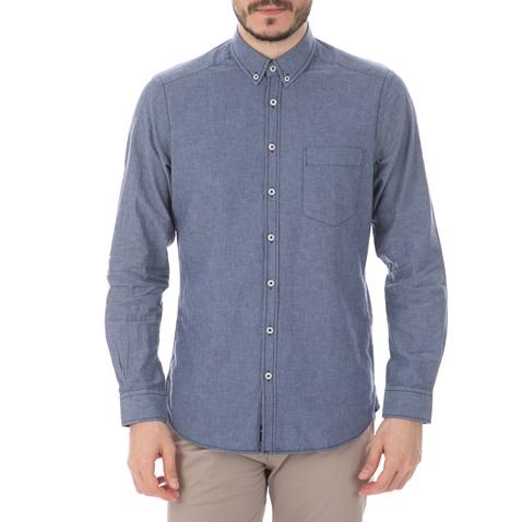 868f30f5e966 HAMPTONS-Ανδρικό μακρυμάνικο πουκάμισο HAMPTONS SOLID γαλάζιο