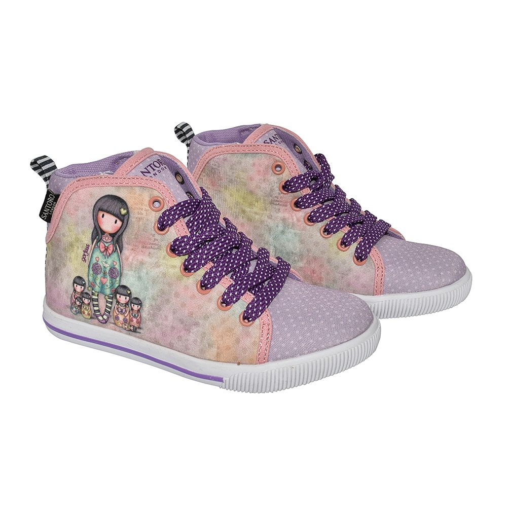 SANTORO Gorjuss – Παιδικά μποτάκια για κορίτσια SANTORO Gorjuss μοβ