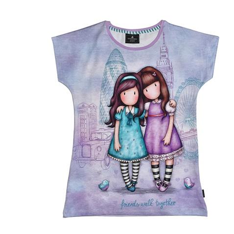 024d13277ff Παιδική κοντομάνικη μπλούζα για κορίτσια SANTORO Gorjuss μοβ  (1746652.0-l200) | Factory Outlet