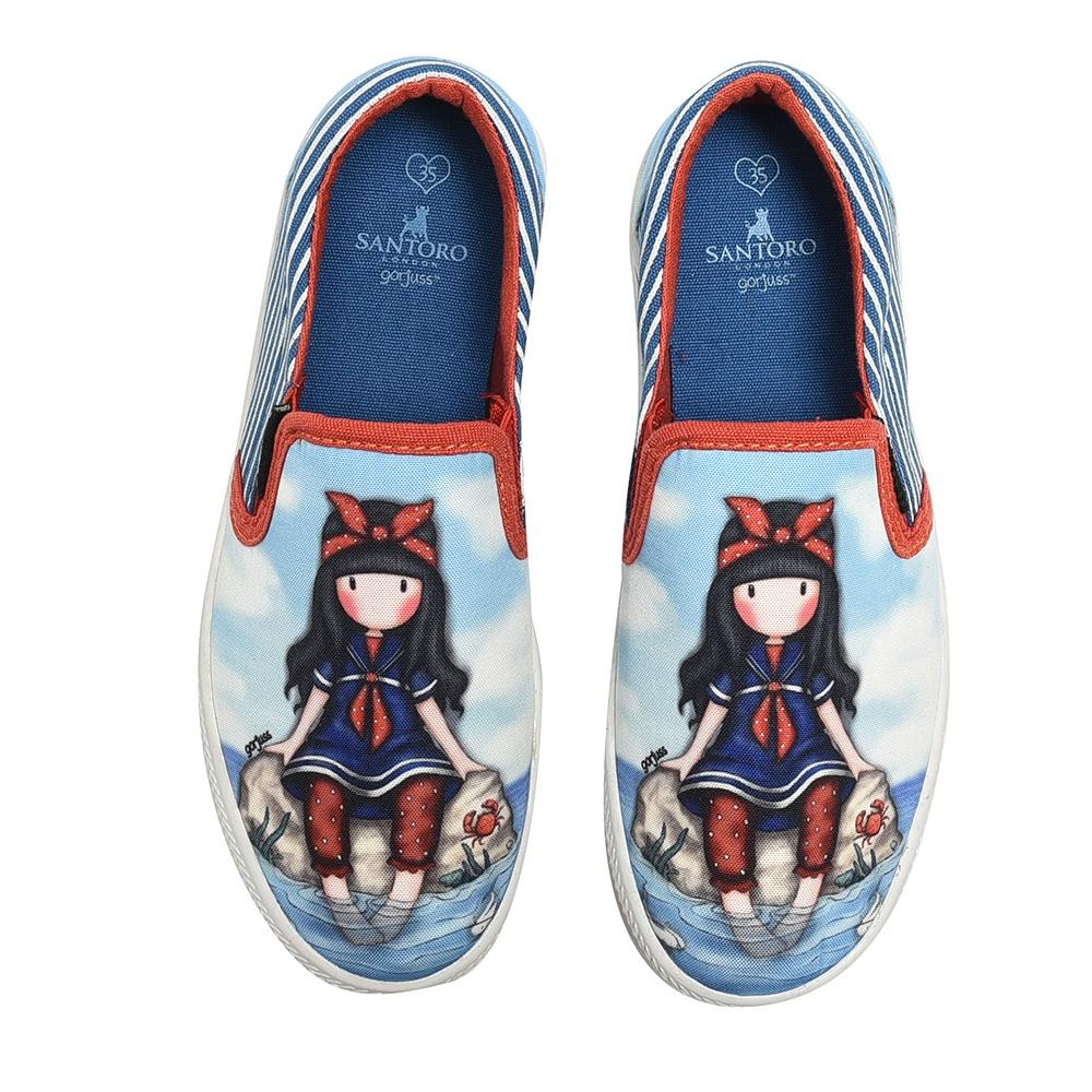 SANTORO Gorjuss – Παιδικά slip-ons για κορίτσια SANTORO Gorjuss μπλε