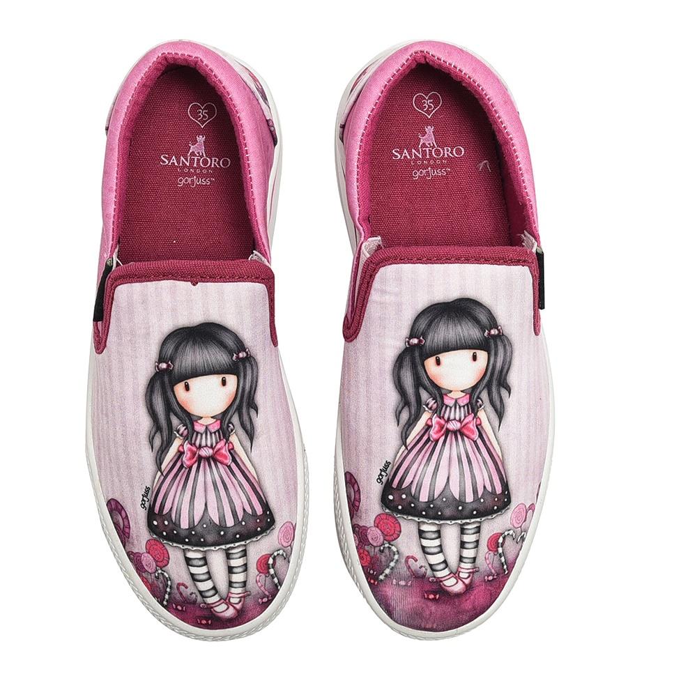 SANTORO Gorjuss – Παιδικά slip-ons για κορίτσια SANTORO Gorjuss ροζ
