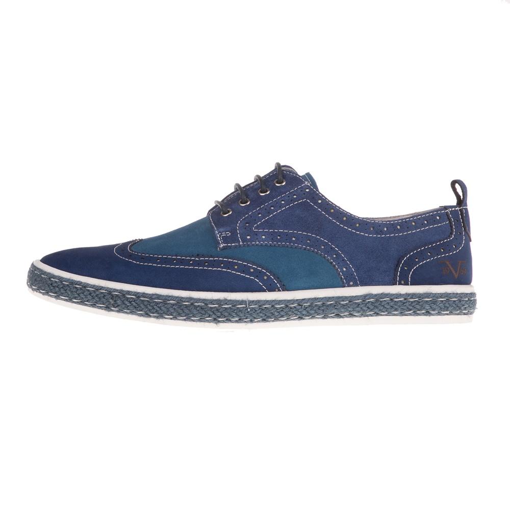 19V69 ITALIA – Ανδρικά δετά παπούτσια 19V69 ITALIA μπλε
