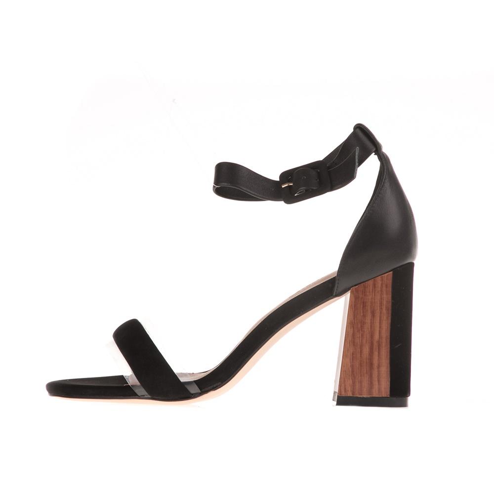 CHEVALIER – Γυναικεία ψηλοτάκουνα πέδιλα CHEVALIER μαύρα