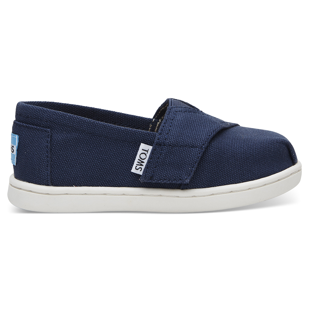 2b71df2e62f -40% Factory Outlet TOMS – Βρεφικά slip-ons TOMS NAVY μπλε