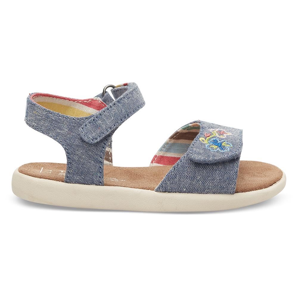 TOMS - Βρεφικά σανδάλια TOMS BLUE MULTI μπλε παιδικά baby παπούτσια πέδιλα σανδάλια