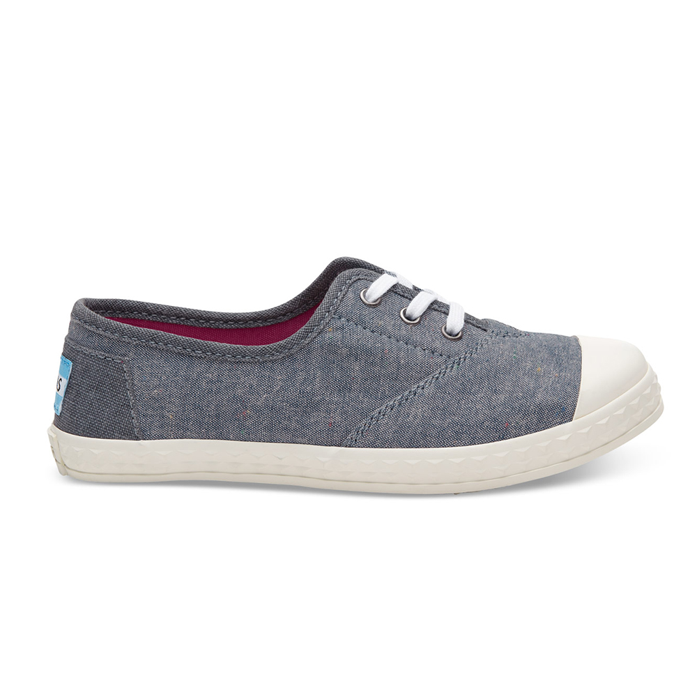 TOMS – Παιδικά sneakers TOMS MULTI SPKLE μπλε