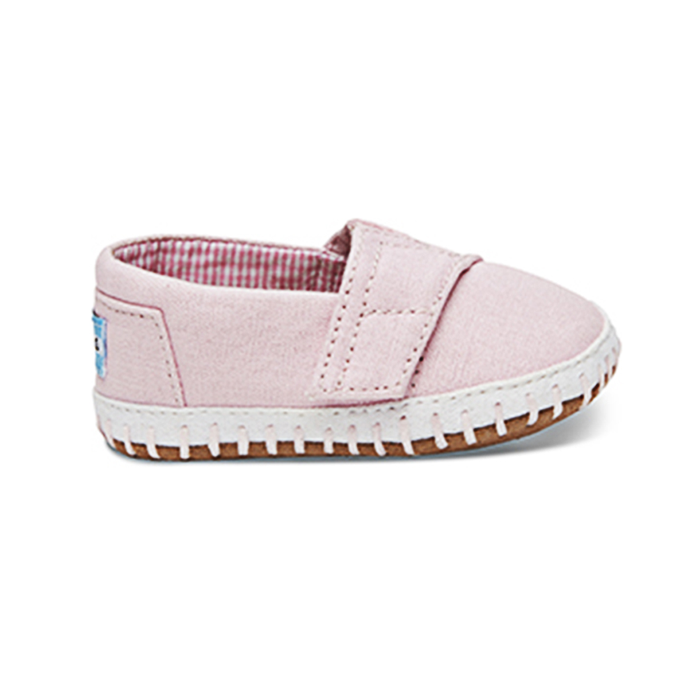 866d880ded4 -25% Factory Outlet TOMS – Βρεφικά slip-ons TOMS PINK CANVAS ροζ