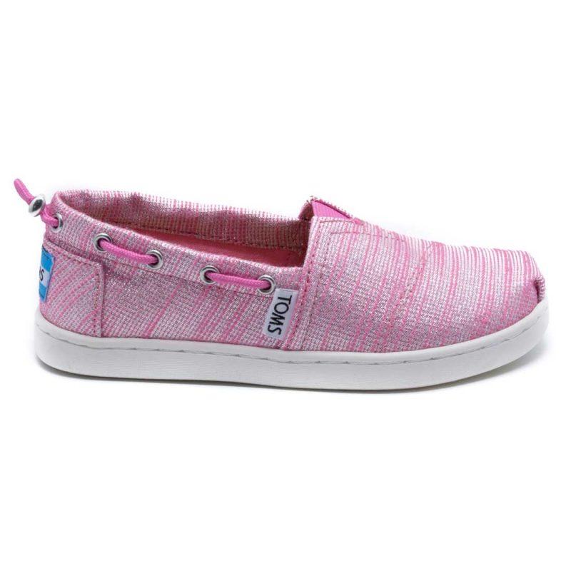 TOMS – Παιδικά slip-ons TOMS PEONY SLUBBY LUREX ροζ