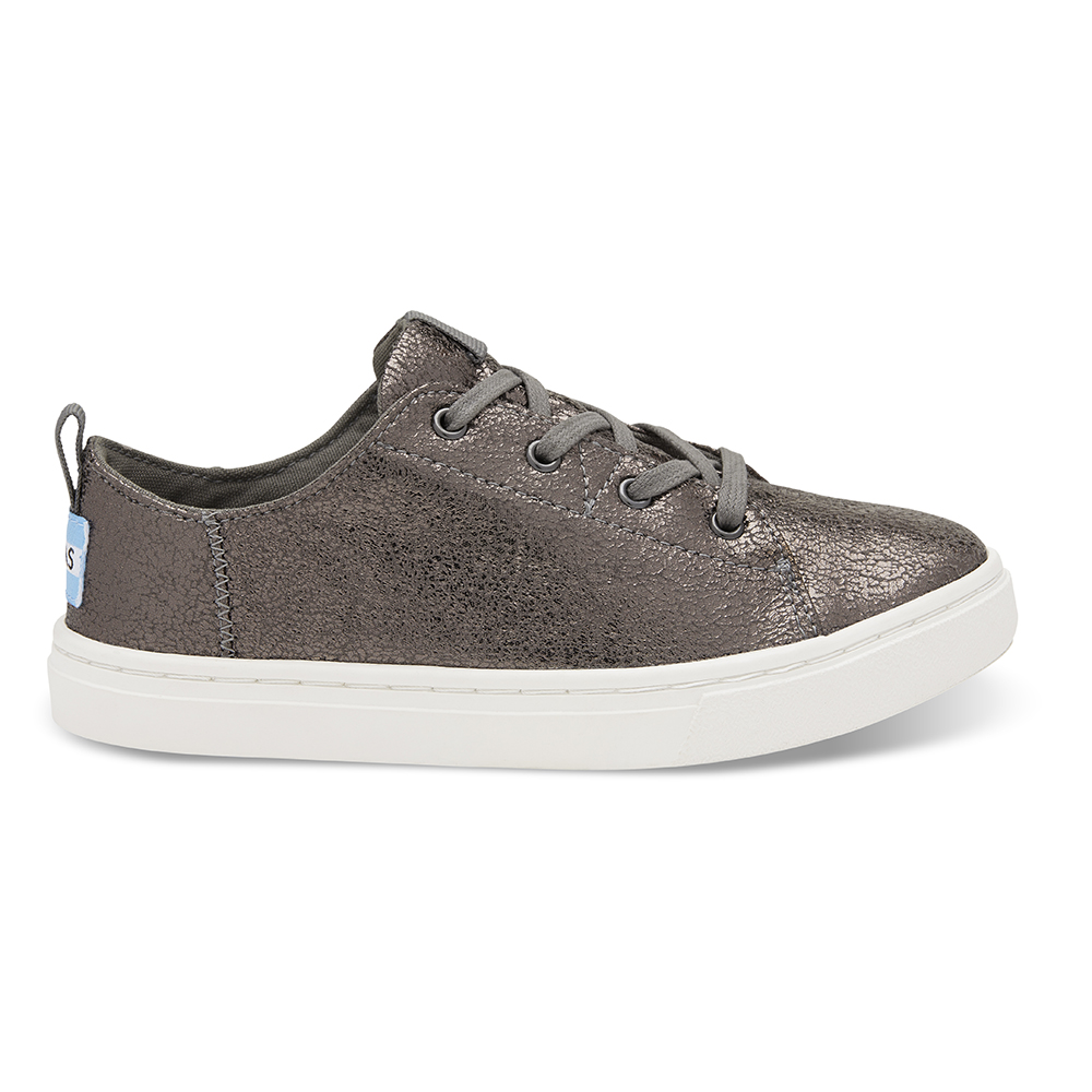 TOMS – Παιδικά sneakers TOMS PEWTER CRACKLE FOIL ασημί