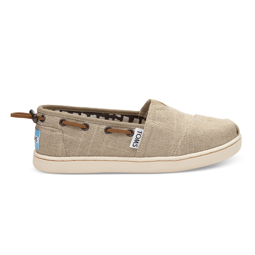 4a617eb4ce9 -25% Factory Outlet TOMS – Παιδικά slip-ons TOMS NATURAL BURLAP μπεζ