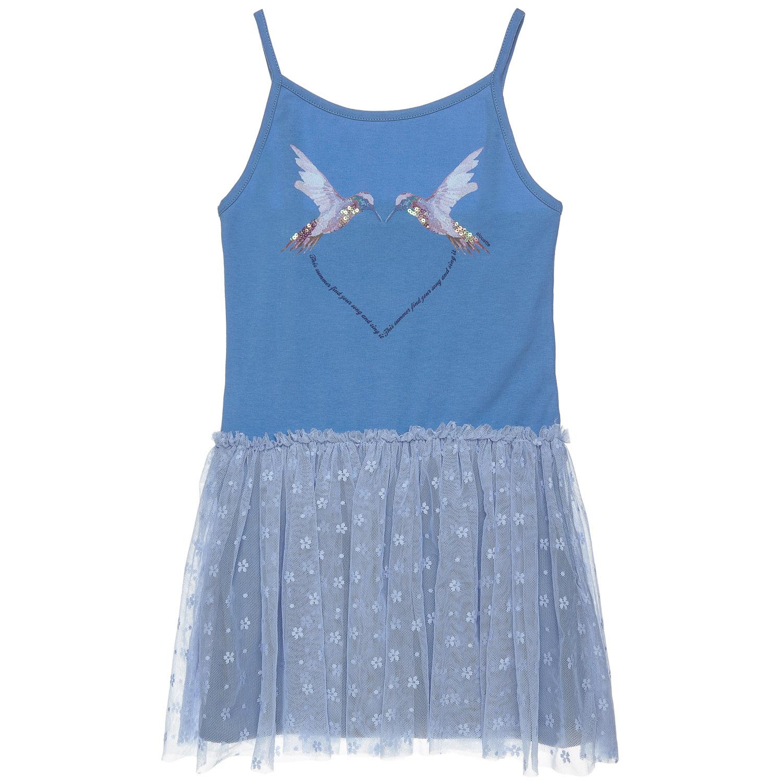 ffc73c4162e9 alouette - Παιδικό φόρεμα με τούλι alouette μπλε