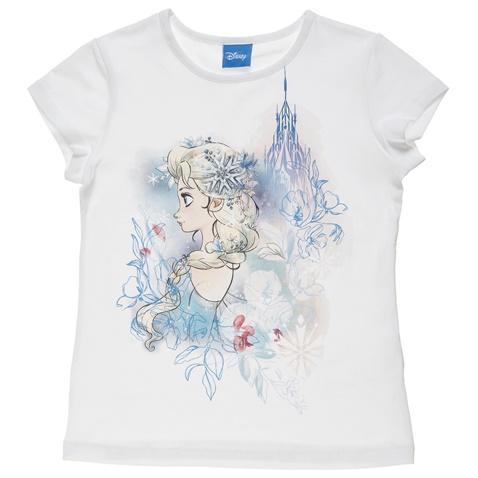 e1bc229635db Παιδική κοντομάνικη μπλούζα για κορίτσια DISNEY λευκή (1748564.0-9100)
