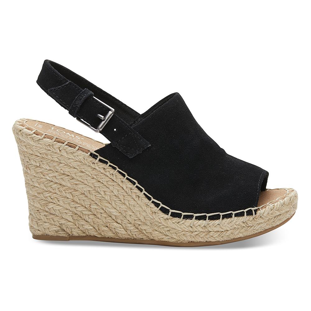 TOMS – Γυναικείες peep-toe πλατφόρμες TOMS μαύρες