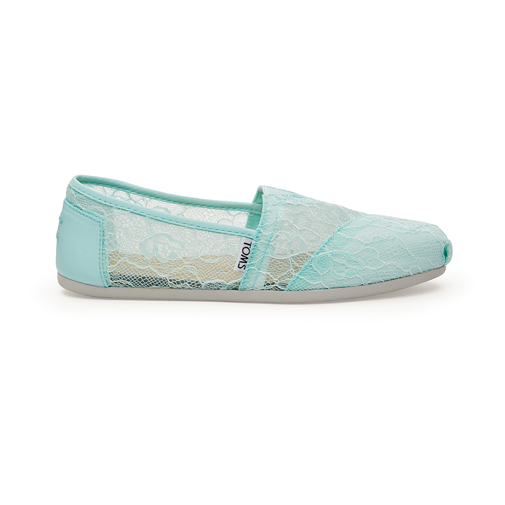 TOMS – Γυναικεία slip-ons με δαντέλα TOMS πράσινα