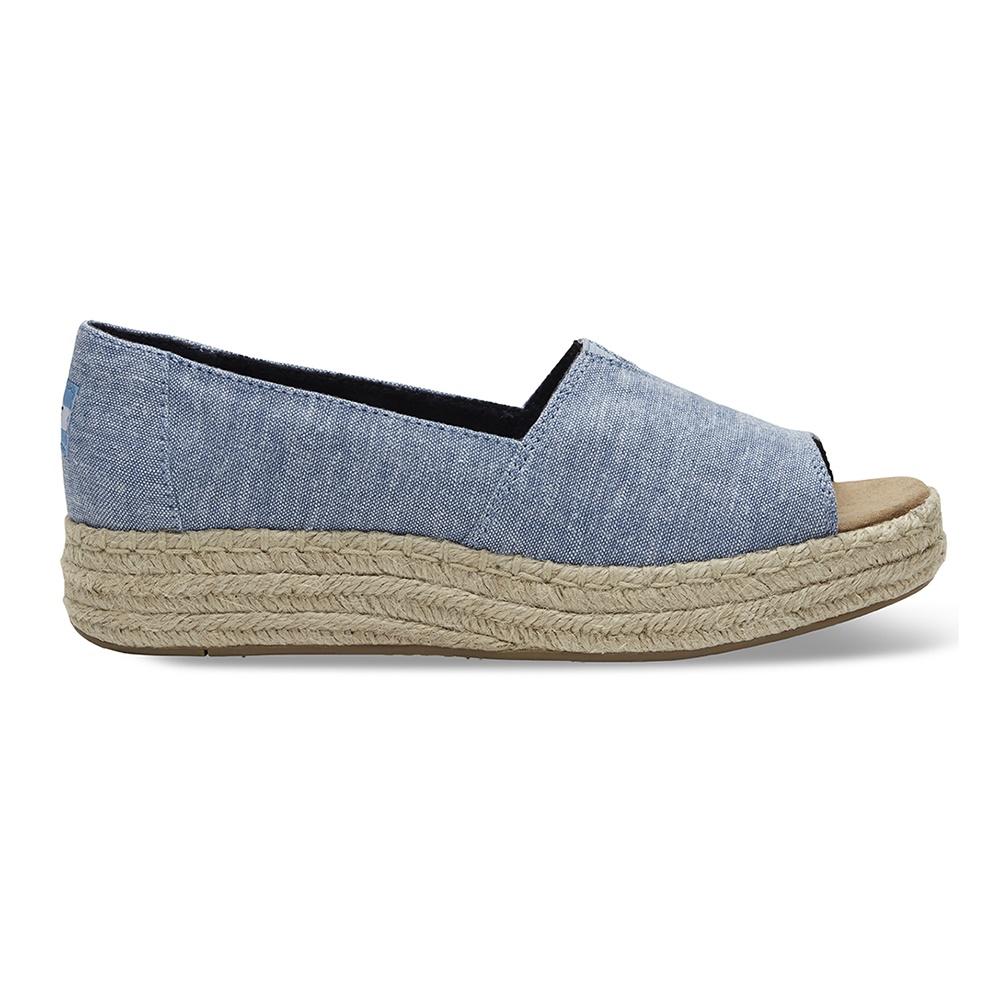 TOMS – Γυναικείες peep-toe εσπαντρίγιες TOMS DESERT μπλε