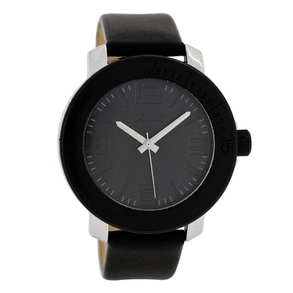 d387714723 -39% OOZOO – Γυναικείο δερμάτινο ρολόι OOZOO TIMEPIECE μαύρο