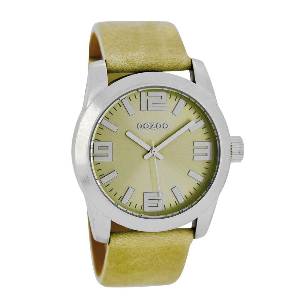 OOZOO - Γυναικείο δερμάτινο ρολόι OOZOO TIMEPIECE μπεζ
