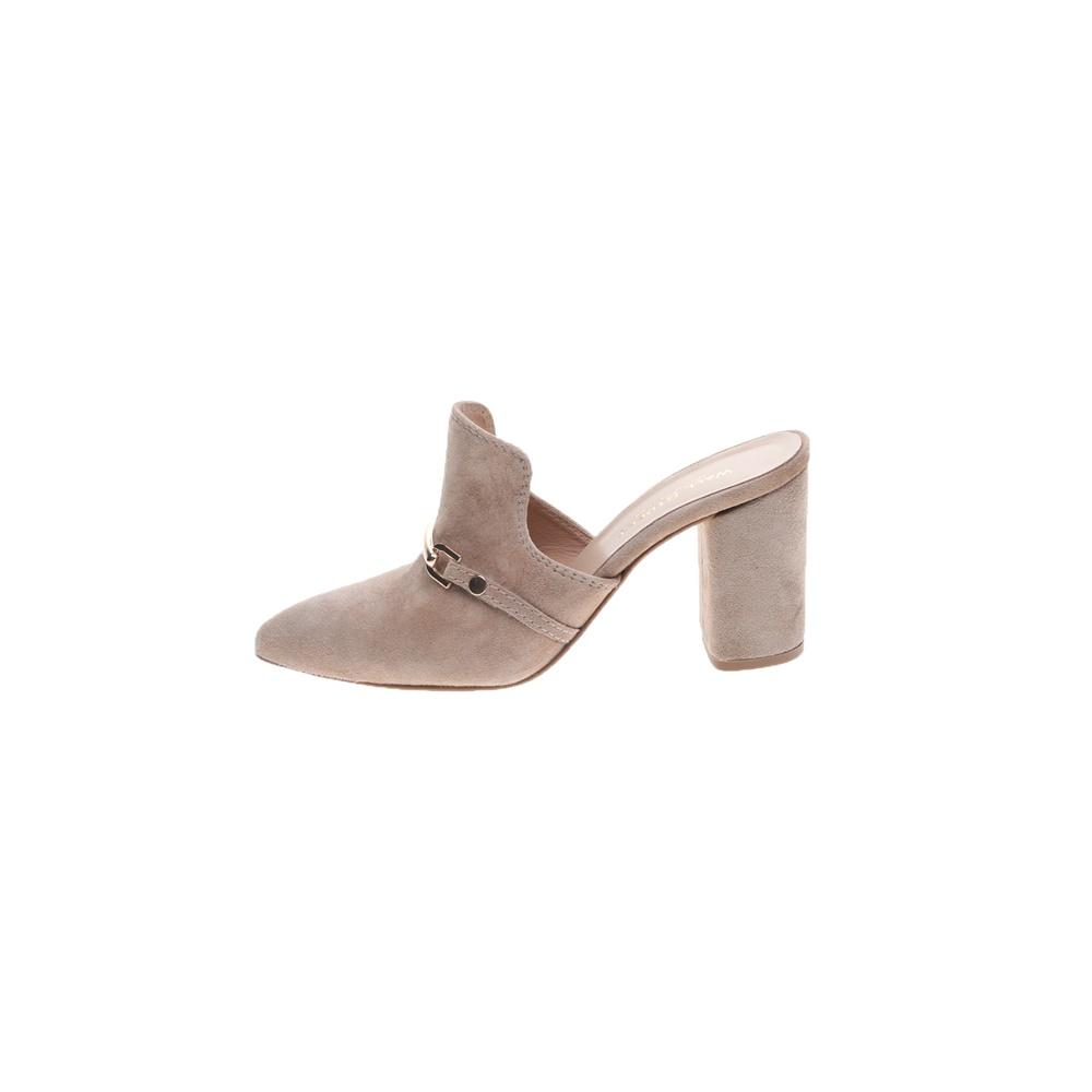 WALL STREET – Γυναικεία καστόρινα mules WALL STREET εκρού